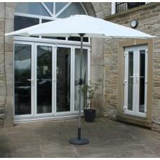 3m Garden Parasol Aluminium Frame Umbrella Sun Shade Canopy Without Base Cream