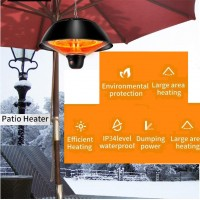1500W Infrared  Heater Outdoor Ceiling Gazebo Patio Heat