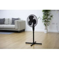 "16"" Pedestal Electric Floor Standing Fan Oscillating Cool Air Adjustable 3 Speed"