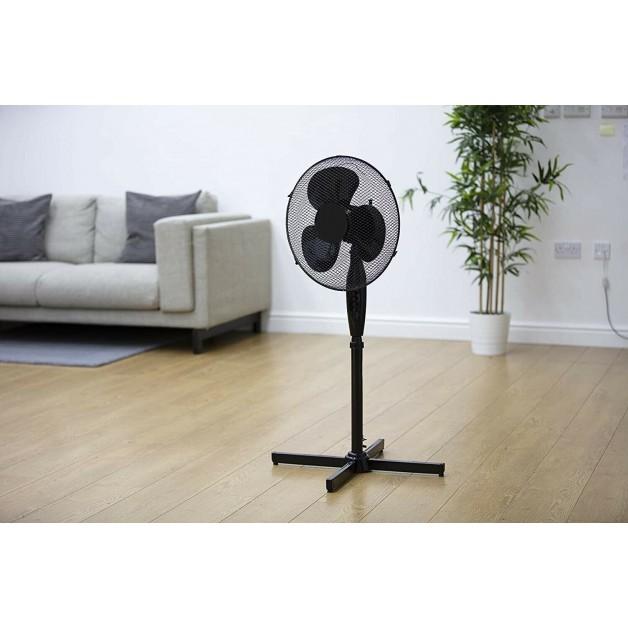 "16"" Pedestal Electric Floor Standing Fan Oscillating Cool Air Adjustable 3 Speed"