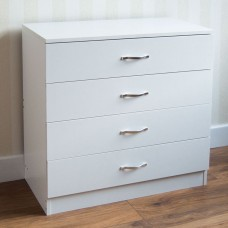 4 Drawer Chest of Drawers Wood 4 Drawer Cabinet White