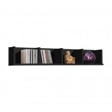 92 cm Black Wood Wall Mounted Storage Shelf Shelves Bookcase Display Furniture