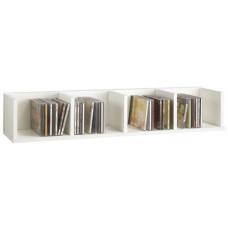92 cm White Wood Wall Mounted Storage Shelf Shelves Bookcase Display Furniture