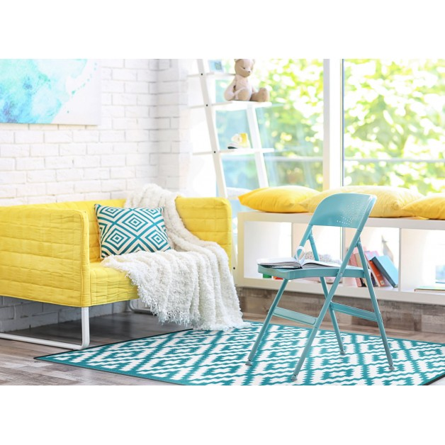 Cheap Outdoor Rugs Recycled Plastic Turquoise Outdoor Carpet 120cmx180cm