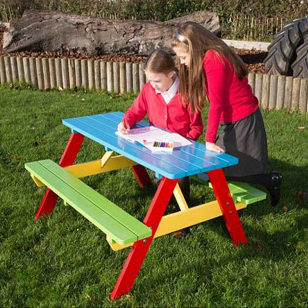 Kids Picnic Table with Wooden Picnic Bench