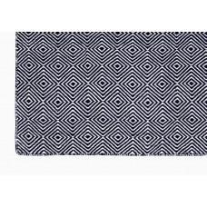 Dark Blue Recycled Garden Patio Rug Plastic Reversible Outdoor Indoor Use