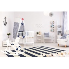 Zebra Rug Navy Rug Striped Rug Outdoor Indoor Patio