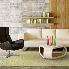 Green Outdoor Plastic Rug Recycled Garden Patio Reversible Indoor Carpet