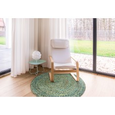 Handmade Floor Carpet Jute Rug Natural Round Reversible