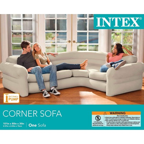 Phenomenal Inflatable Corner Sofa Intex Living Room Couch Sectional Air Bed Portable 101X80 Pdpeps Interior Chair Design Pdpepsorg