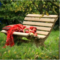 Outdoor Wooden Bench Garden Bench Seat Pine Wood