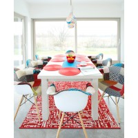 Outdoor Plastic Rugs Mats Get The Best Recycled Products in Red