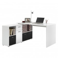 PC Computer Corner Desk Luxury Office Table Cabinet Shelves Home Workstation Storage