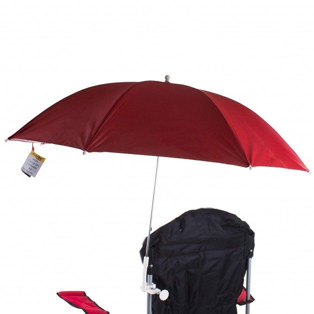 Pram Parasol Umbrella Pushchair Clip On Beach Chairs Red