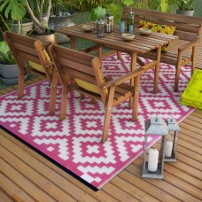 Recycled Made From Plastic Bottles Rug Pink Easy Cleaning