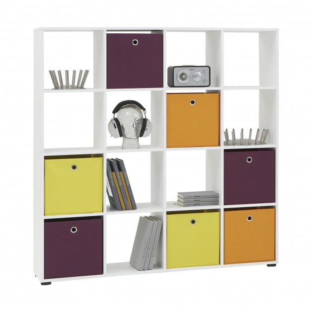 Room Divisor Divider Shelving Unit Bookcase Shelf Compartments Cube Storage