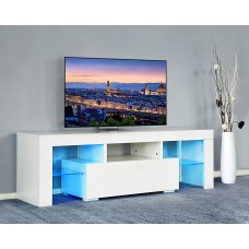 Slim Tv Stand Led Light Sizes up to 60 inches High Gloss White