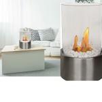 Tabletop Fireplace Bio-Ethanol Fire Bowl Pot Indoor Outdoor Portable