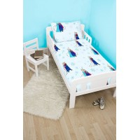 Toddler Cot Bed Duvet Set Frozen Light