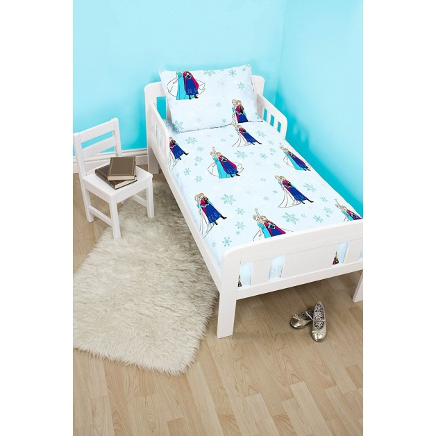 Toddler Cot Bed Duvet Set Frozen Light