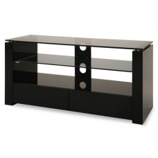 Universal Black Gloss Glass MDF base TV Stand 3 Shelves Drawers 32 to 60 Inches