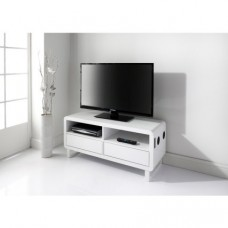 White Gloss Tv Stand Music Built In Bluetooth Speakers Stunning Modern Furniture