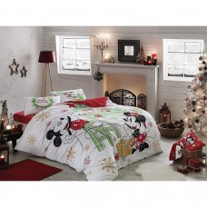 Mickey and Minnie Double Duvet Set Cotton Bedding Christmas