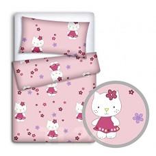 Hello Kitty Toddler Cot Bed Duvet Cover Pillowcase Set 120/150 cm