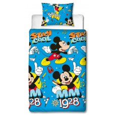 Single Reversible MICKEY MOUSE Duvet Set Print Design Bed Linen