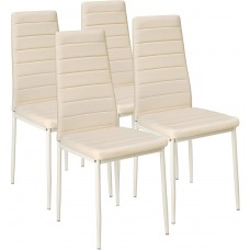 Dining Chairs Set of 4 Cream Dining Chairs