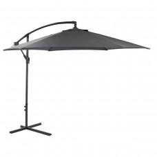 Grey Hanging 3M Garden Parasol Banana Sun Shade Outdoor Cantilever Umbrella