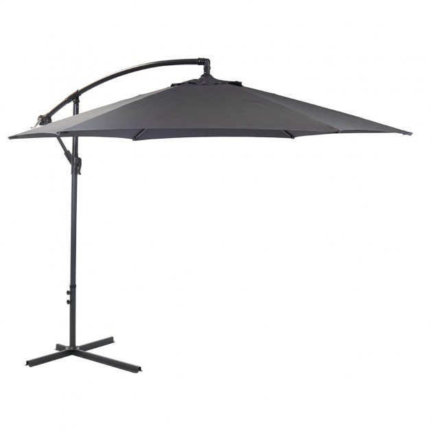 Grey Hanging 3M Garden Parasol Banana Sun Shade Outdoor Cantilever Umbrella
