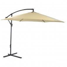 3M Garden Parasol Hanging Banana Sun Shade Outdoor Cantilever Umbrella Beige
