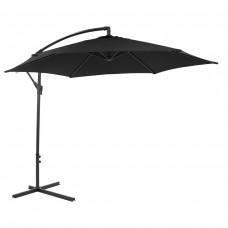 Black Hanging 3M Garden Parasol Banana Sun Shade Outdoor Cantilever Umbrella
