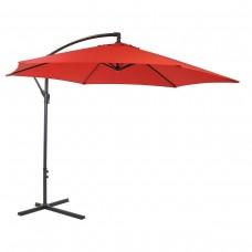 3M Garden Parasol Hanging Banana Sun Shade Outdoor Cantilever Umbrella Red