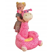 Children Sitting Riding Chair Toddler Plush Comfy Sofa Giraffe Pink