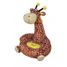 Children Sitting Chair Toddler Plush Comfy Sofa Giraffe Brown