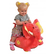 Children Sitting Riding Chair Toddler Plush Comfy Sofa Elephant Pink