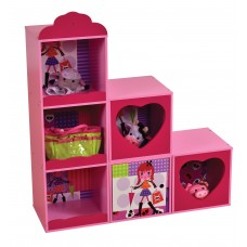 6 CUBE STACKING COMPARTMENTS STYLISH GIRL SHELVES