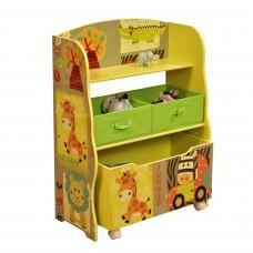 Toys Organizer Safari Bus with Wheels