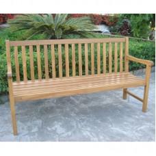 3-4 Seater Acacia Wood Bench Vintage Wooden Antique Seats Hardwood