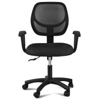 Office Computer Desk Chair Swivel Executive Manager Furniture Fabric Mesh Black